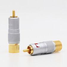 8 Pcs Nakamichi 24K Glod plated RCA Plug Audio Cable Connector