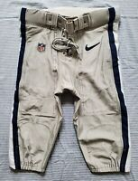 Dallas Cowboys NFL Team Issued Silver Football Pants - Size 34 Short wBelt 2014
