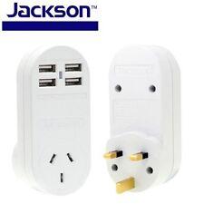 Jackson International Travel Adapter w/ 4 USB Port Outbound UK/ Hong Kong & more