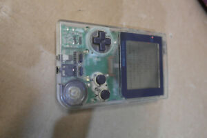 Gameboy pocket transparent console MGB-001 Clear complete tested working