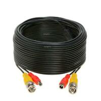 100FT Black Premade BNC Video Power Cable/Wire for Security Camera