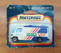 "Matchbox Mercedes Benz 207-D Van ""Rock TV"" TV News MB-73 1/73 Scale Toy Model"
