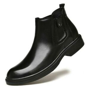 Mens Nightclub Patent Leather Ankle Chelsea Boots Slip On Busniess Shoes Casual