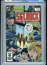 Sgt Rock #391 CGC 9.8 White Pages Joe Kubert Cover