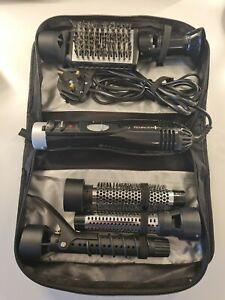 REMINGTON HOT HAIR BRUSH VOLUME & CURL IONIC AIR STYLER   5 ATTACHMENTS AND BAG