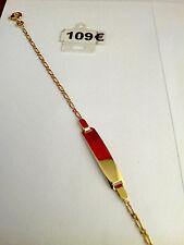 "bracelet bebe or jaune 18 carats(750/1000) gold ""gravure offerte"""