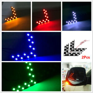2x Truck Car Side Rear View Mirror 14-SMD LED Lamp Turn Signal Light Accessories