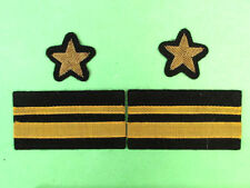 Genuine USSR Army Marine Force Officer's Sleeve Patches Set (Lieutenant).