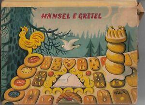 HANSEL E GRETEL di Grimm Libro Pop-Up Kubasta ed. Artia Cino Del Duca 1962