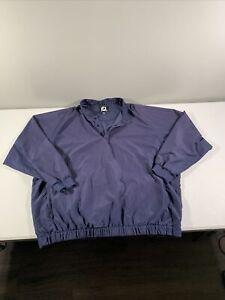 Men's FootJoy Long Sleeve 1/4 Snap Golf Windbreaker Rain Proof Jacket Sz 3XL