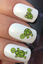 NAIL ART SET #670 x20 GREEN BABY TORTOISE TURTLE WATER TRANSFER DECALS STICKERS
