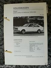V27A-VOLKSWAGEN PASSAT, COACH, SEDAN EN STATIONCAR 1973-1975
