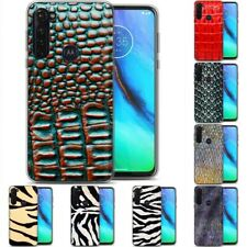 TPU Phone Case for Motorola G Stylus,G7 Play,Power,Plus,Skin Wild Pattern Print