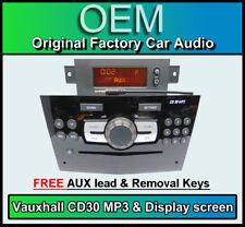 Vauxhall Corsa CD30 MP3 player, PIANO BLACK CD radio stereo + Display & AUX LEAD