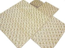 Handcrafted Table Decor Set Gold Bead Work Tablecloth Runner Placemats India