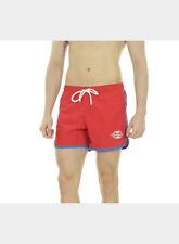 Boxer da mare e piscina rossi in nylon per bambini dai 2 ai 16 anni