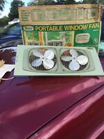Vintage Marvin Model 282 Electric Screen Fan Orig Box Works Great Double fan