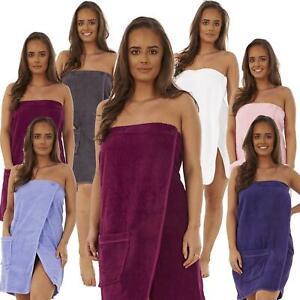Ladies Women Luxury 100% Cotton Towelling Shower Towel Wrap Bath Beach Cover Up