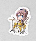 "Bang Dream, Bandori. Laminated 3"" Sticker. Poppin Party Saaya Chibi"
