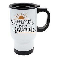 Taza de viaje - Summer tiene MY FAVORITE - Blanco Acero Inoxidable -