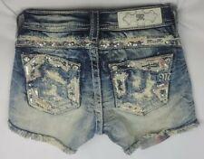 Miss Me Short Low Rise Stretch Buckle Girls Denim Shorts 10 x 2 KE8701H