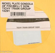 Tichy Train Group HO #10291 Nickel Plate Gondola 48' Fishbelly Gondola  (Decal)