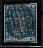 P133217/ SPAIN – COAT OF ARMS - EDIFIL # 27 USED CERTIFICATE – CV 495 $