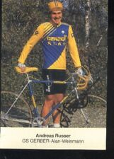 ANDREAS RUSSER cyclisme radsport vélo AUTOGRAMM GERBER