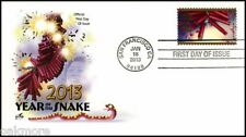 2013 LUNAR NEW YEAR ~ YEAR OF THE SNAKE ART CRAFT FIRST DAY COVER