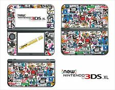 SKIN DECAL STICKER - NINTENDO NEW 3DS XL - REF 192 STICKER BOMB