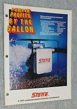 Vintage 1988 Stone Construction Equipment Pumps Old Unused Brochure Free Sh