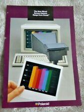 Polaroid Direct Screen Cameras sales leaflet. 1987.