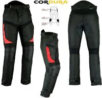 RED SPEED MAX MENS CORDURA VENT CE ARMOUR MOTORBIKE /MOTORCYCLE TEXTILE TROUSERS