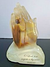 Praying Hands Figurine How Majestic is Thy Name Bradford Exchange Greg Olsen '14