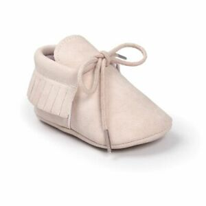 Baby Shoes Newborns Infant Boy Girl Classical Lace-up Tassels Anti-slip Toddler