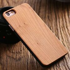 Apple iphone 7 4.7 hard back real wood case wooden cover brown bamboo cherry oak