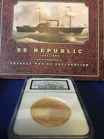 RARE1865s MS61 SS Republic Shipwreck $20 Liberty Double Eagle NGC Collector Set