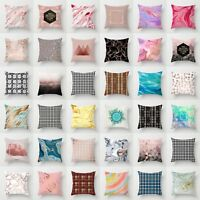 Polyester Marbling Pillow Case Sofa Car Throw Cushion Cover Home Decor