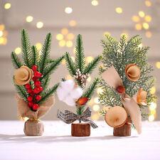Set of 3 Christmas Desk Decoration Christmas Tree Ornament Mini Artificial NEW