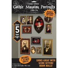 Gothic Haunted Mansion Scene Setters Add-ons Portraits Wall Decoration Kit Hallo