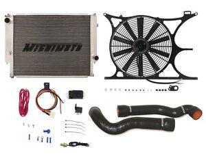 "MISHIMOTO BMW E36 Radiator+Shroud+Fan+Hose1/8"" NPT FAN CONTROLLER KIT BLACK"