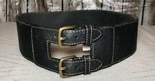 45a7e5848 New ListingXS | LOFT Extra Wide Double Buckle Black Pebbled Leather Corset  Belt