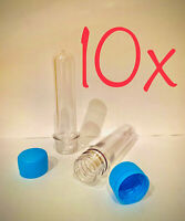10 x Cache Tube PET Clear Waterproof Storage Container Baby Soda Bottle Preform