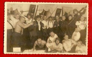 LATVIA LETTLAND SEMI NUDE MEN SOLDIERS VINTAGE PHOTO POSTCARD 1