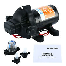 Amarine-made 12v 3.5GPM 45 PSI Water Pressure Diaphragm Pump Boat Marine