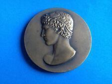 MÉDAILLE en Bronze ATHLETE A L'ANTIQUE par DELANNOY / French Medal
