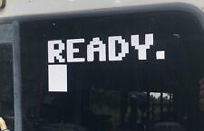 """Commodore 64 READY 10"""" x 4.5"""" Decal WINDOW BUMPER STICKER"""