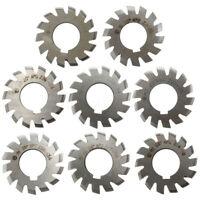 8pcs/1pc Diameter 22mm M1 20degree #1-8 HSS Involute Module Gear Milling