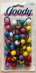 Goody Vintage 16 Twin Bead ponytail holders Ponytailers NEW NOS NIB 1995 solid