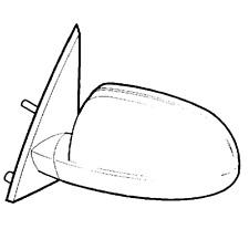 VAUXHALL REAR VIEW MIRROR - GENUINE NEW - 13148950